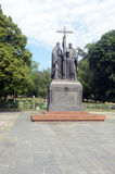 The Monument to Cyril and Methodius Stock Photo