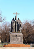 Monument to Cyril and Methodius Stock Photo