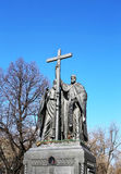 Monument to Cyril and Methodius Stock Photos