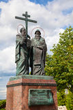 The monument to Cyril and Methodius in Kolomna Stock Image