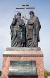 A monument to Cyril and Methodius. A monument to Cyril and Mefody (Methodius). Beautiful Kremlin in Kolomna, Moscow region, Russia. Taken on September 22, 2012 Stock Photos