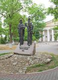 The monument to Cyril and Methodius, Sevastopol Royalty Free Stock Image
