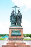 Monument to Cyril and Methody. Kremlin in Kolomna, Russia. Stock Photography