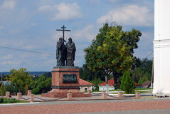 Monument to Cyril and Methody. Kremlin in Kolomna, Russia. Stock Images
