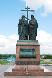 Monument to Cyrin and Methody. Kremlin in Kolomna, Russia. Royalty Free Stock Images