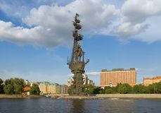 Monument to Czar Peter the Great Royalty Free Stock Images