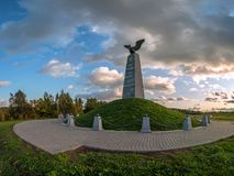 Monument to the `Dead of the great army` or `Fallen of the great army` on Borodino field in Central Russia.