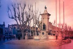 Monument to the deads of France. Narbonne. France Stock Images