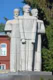 Monument to Decembrists in Yekaterinburg Stock Photos