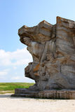 Monument to defenders of Adzhimushkay quarry established on the site of catacombs Stock Image