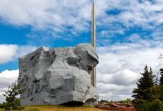 Monument to the defenders of the Brest Fortress. Stock Image