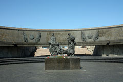 Monument to defenders of Leningrad. In Saint Petersburg Stock Photo