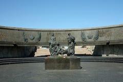 Monument to defenders of Leningrad Stock Photo