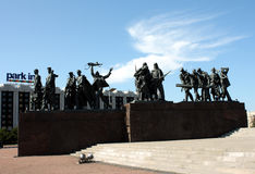 Monument to defenders of Leningrad. In Saint Petersburg Royalty Free Stock Photos