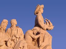 Monument to the Discoveries. Monument to the portuguese naval discoveries stock images
