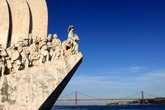 Monument to the Discoveries. In Lisbon, Portugal stock image