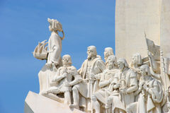 Monument to the discoveries. In Lisbon Stock Images