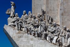 Monument to the Discoveries in Lisbon, Portugal. Monument to the Discoveries, architect Cottinelli Telmo, sculptor Leopoldo de Almeida, inaugurated in 1960 to royalty free stock photos