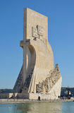 Monument to the Discoveries Belem district Lisbon Portugal. Royalty Free Stock Photography