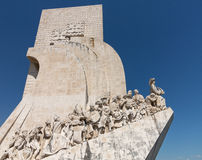 Monument to Discoveries Belem Lisbon. Padrao dos Descobrimentos or Monument to the Discoveries statue and memorial in Belem near Lisbon Portugal. Sculptor was royalty free stock images