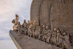 Monument to the Discoveries. In Belem, Lisbon, Portugal stock photography