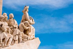 Monument to the Discoveries. In Belem, Lisbon, Portugal stock photos