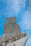 Monument to the Discoveries at Belem Lisbon Portugal. Detail of figures stock image