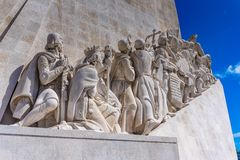 Monument to the Discoveries at Belem. Portugal stock photo