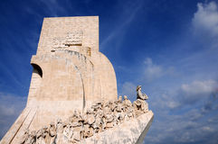 Monument to the Discoveries. Celebrates the Portuguese who took part in the Age of Discovery. It is located in the Belem district of Lisbon, Portugal Stock Photo