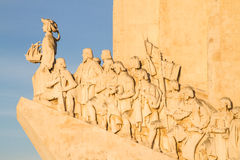 Monument to the Discoveries details Royalty Free Stock Photo