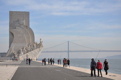 Monument to the discoveries lisbon Royalty Free Stock Photos