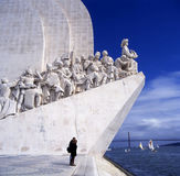 Monument to the Discoveries Lisbon. The Padrao dos Descobrimentos (Monument to the Discoveries) celebrates the Portuguese who took part in the Age of Discovery Royalty Free Stock Photo