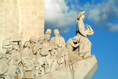 Monument to the discoveries in Lisbon stock images