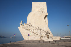 Monument to the Discoveries in Lisbon. Monument to the Discoveries (Padrao dos Descobrimentos) in Belem district of Lisbon in Portugal Stock Photos
