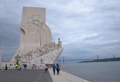 Monument to the Discoveries Lisbon. The Padrao dos Descobrimentos Monument to the Discoveries celebrates the Portuguese who took part in the Age of Discovery. It Stock Images