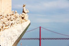 Monument to the Discoveries in Lisbon, Por Royalty Free Stock Photos