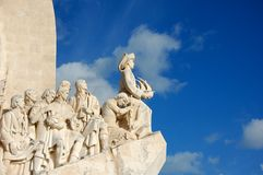 Monument to the Discoveries in Lisbon, Portugal Royalty Free Stock Images