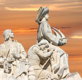 Monument to the Discoveries, Lisbon, Portugal Royalty Free Stock Photo
