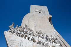 The Monument to the Discoveries, Lisbon, Portugal, Europe stock images