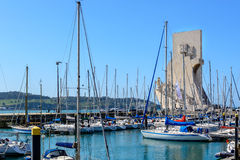 Monument to the Discoveries in Lisbon, Portugal at the marina in Belem Stock Photos
