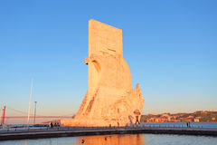Monument to the discoveries Lisbon at twilight Stock Photos