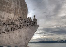 Monument to the Discoveries. 52 metres tall, this monument commemorates the five hundredth. LISBON, PORTUGAL - NOVEMBER 22, 2018: Monument to the Discoveries. 52 stock images