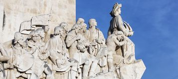 Monument to the discoveries. Lisbon Stock Images