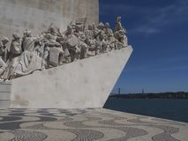 Monument to the discoveries in Lisbon in Portugal. Monument to the discoveries named Padrao dos Descobrimentos in Lisbon near Belem stock photos