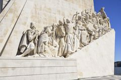Monument to the discoveries in Lisbon, Portugal royalty free stock photography