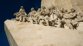 Monument to the Discoveries of the New World in Belem, Lisbon, Portugal. stock footage