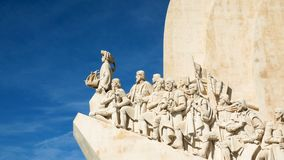 Monument to the Discoveries of the New World in Belem, Lisbon, Portugal. stock video footage