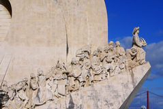 Monument to the Discoveries of New world in Lisboa, Portugal Royalty Free Stock Photo