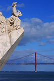 Monument to the Discoveries of New world in Lisboa, Portugal Royalty Free Stock Image