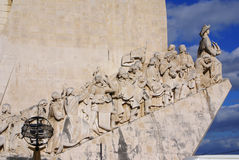 Monument to the Discoveries of New world in Lisboa, Portugal. Europa royalty free stock photography